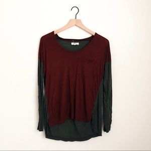 MADEWELL • scoopneck roster colorblock tee shirt